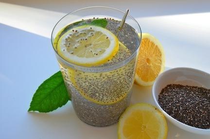 Recipe: Chia Seed Lemon Water